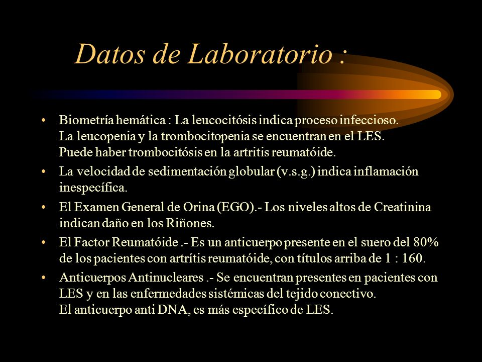 Datos de Laboratorio :