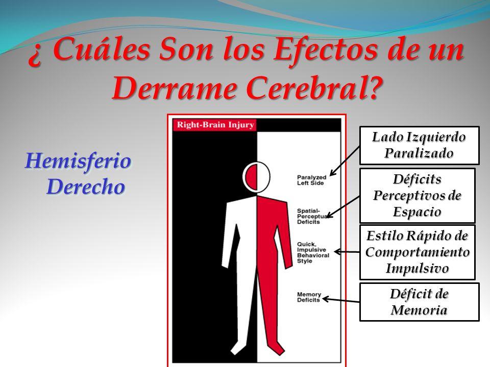 ¿ Cuáles Son los Efectos de un Derrame Cerebral