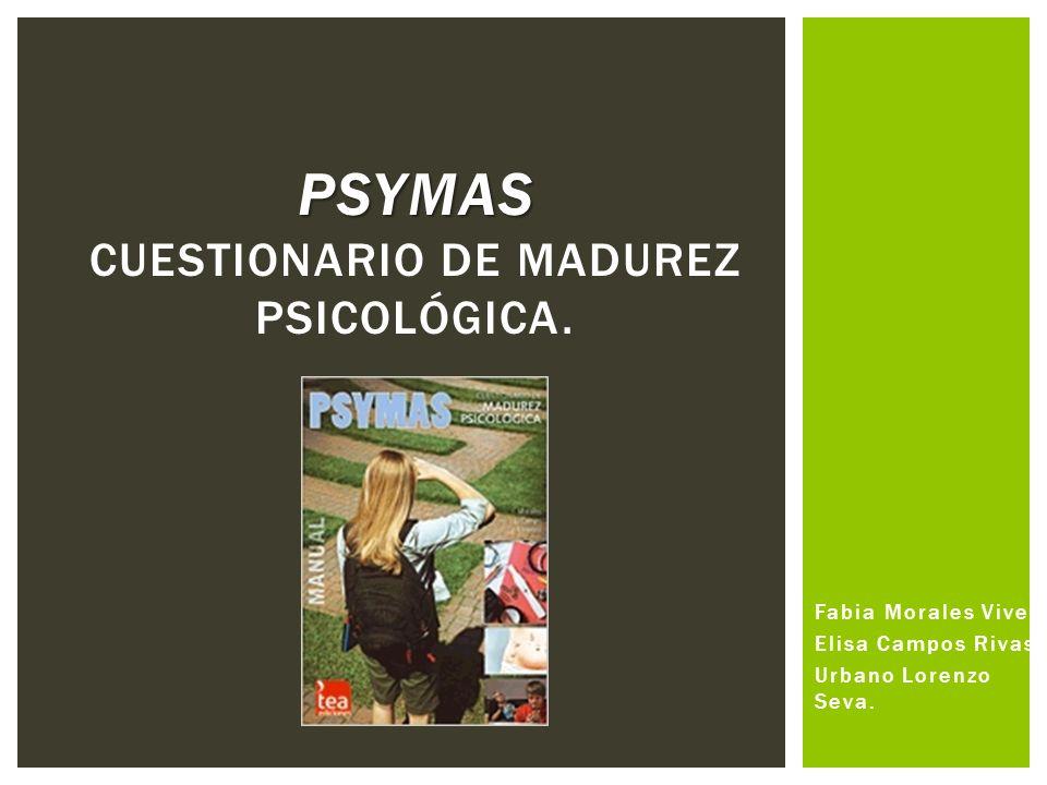Psymas cuestionario de madurez psicológica.