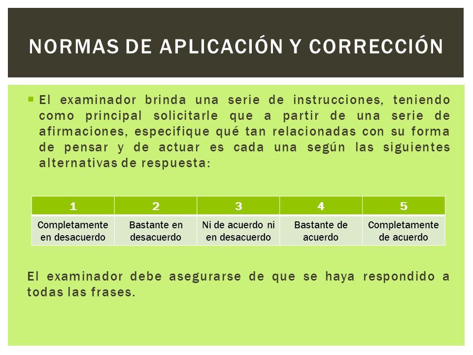 NORMAS DE APLICACIÓN Y CORRECCIÓN