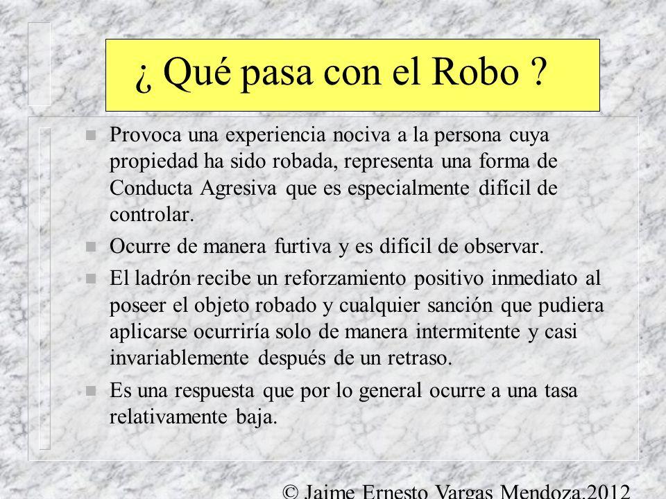 ¿ Qué pasa con el Robo