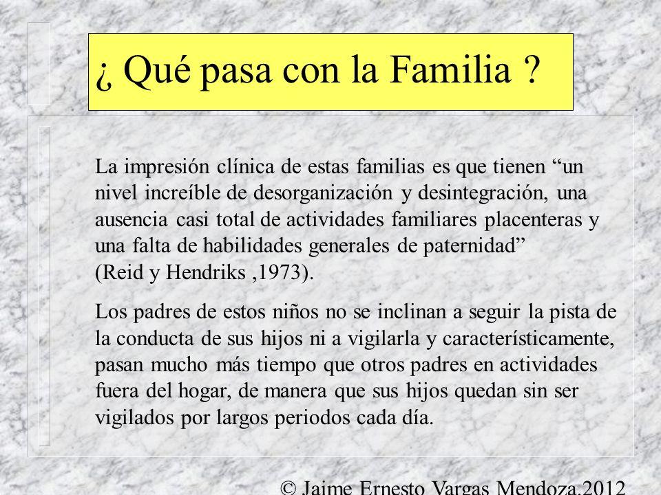 ¿ Qué pasa con la Familia