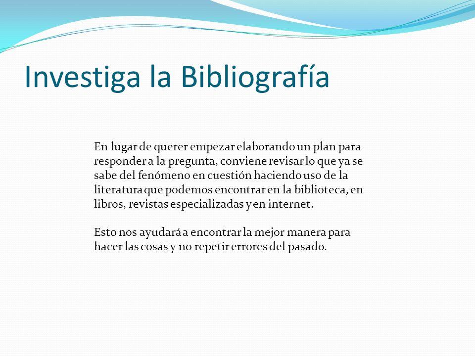 Investiga la Bibliografía