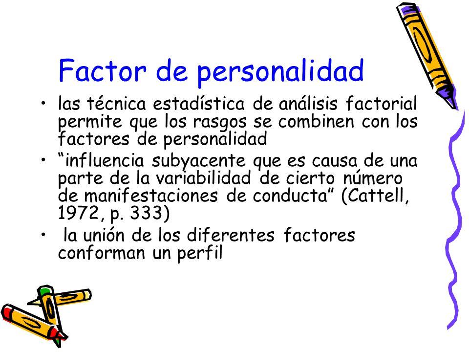 Factor de personalidad