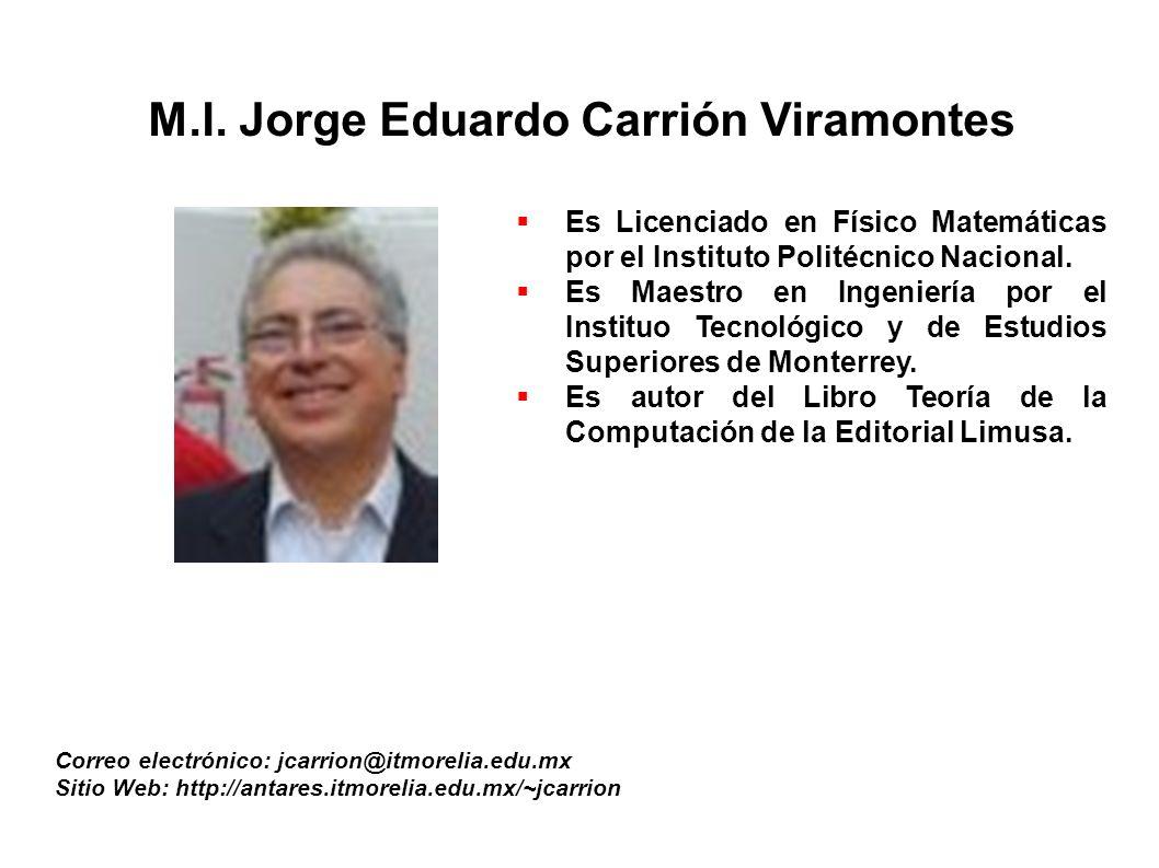 M.I. Jorge Eduardo Carrión Viramontes