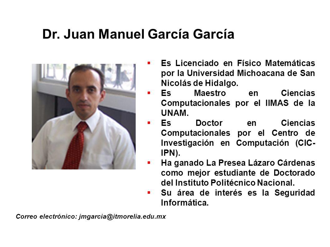 Dr. Juan Manuel García García