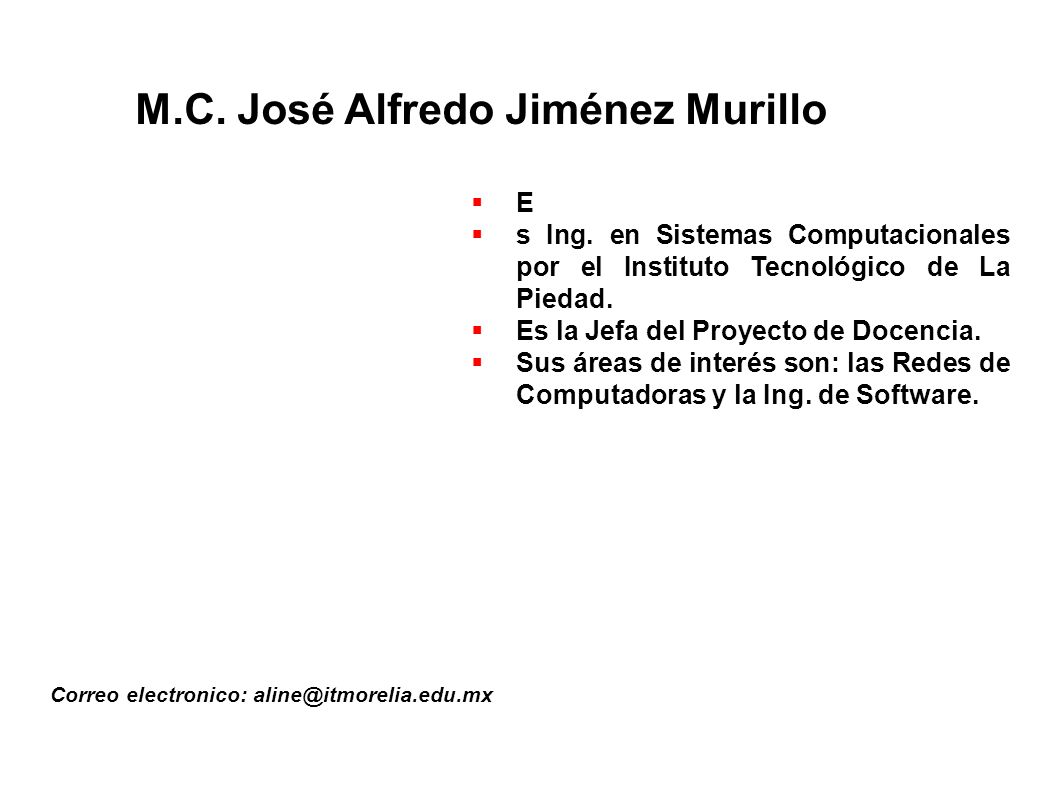 M.C. José Alfredo Jiménez Murillo