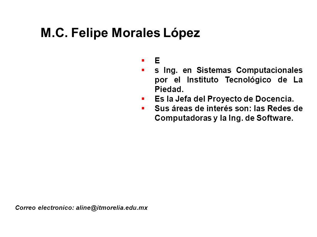 M.C. Felipe Morales López