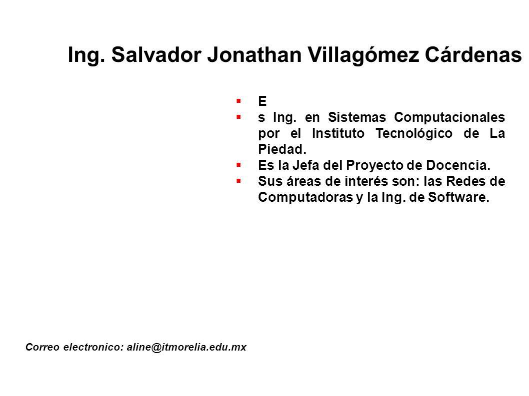 Ing. Salvador Jonathan Villagómez Cárdenas