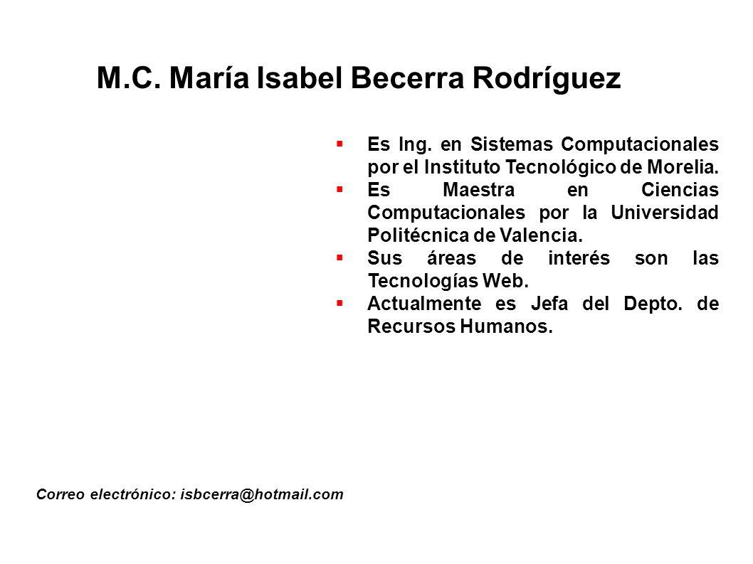 M.C. María Isabel Becerra Rodríguez