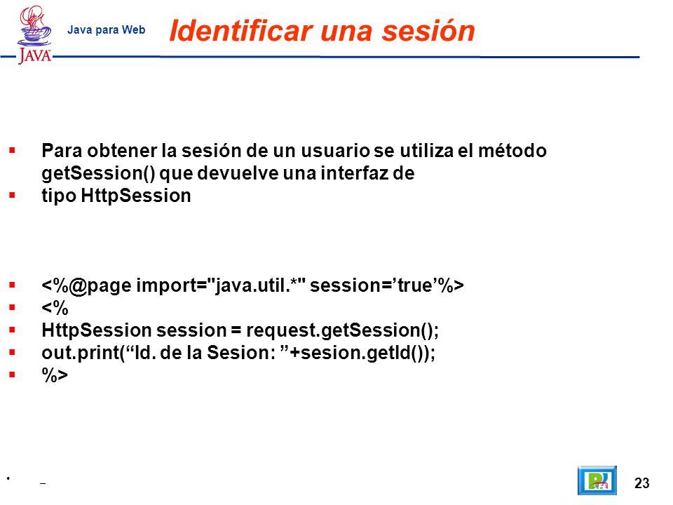 Identificar una sesión