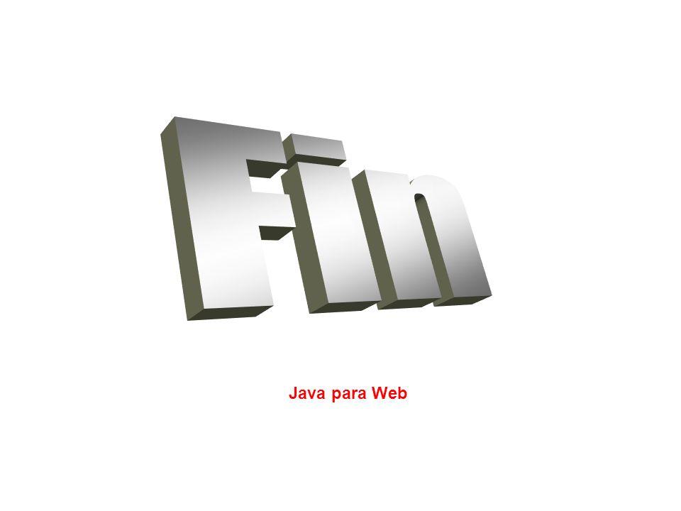 Fin Java para Web