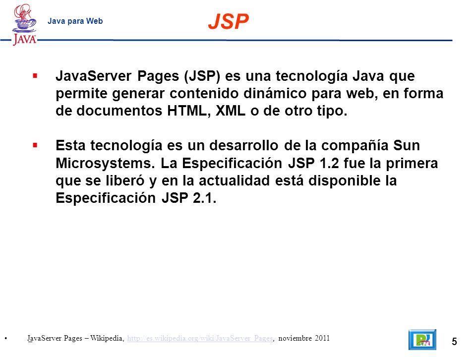 JSP Java para Web.