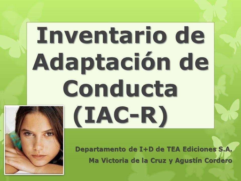Inventario de Adaptación de Conducta (IAC-R)