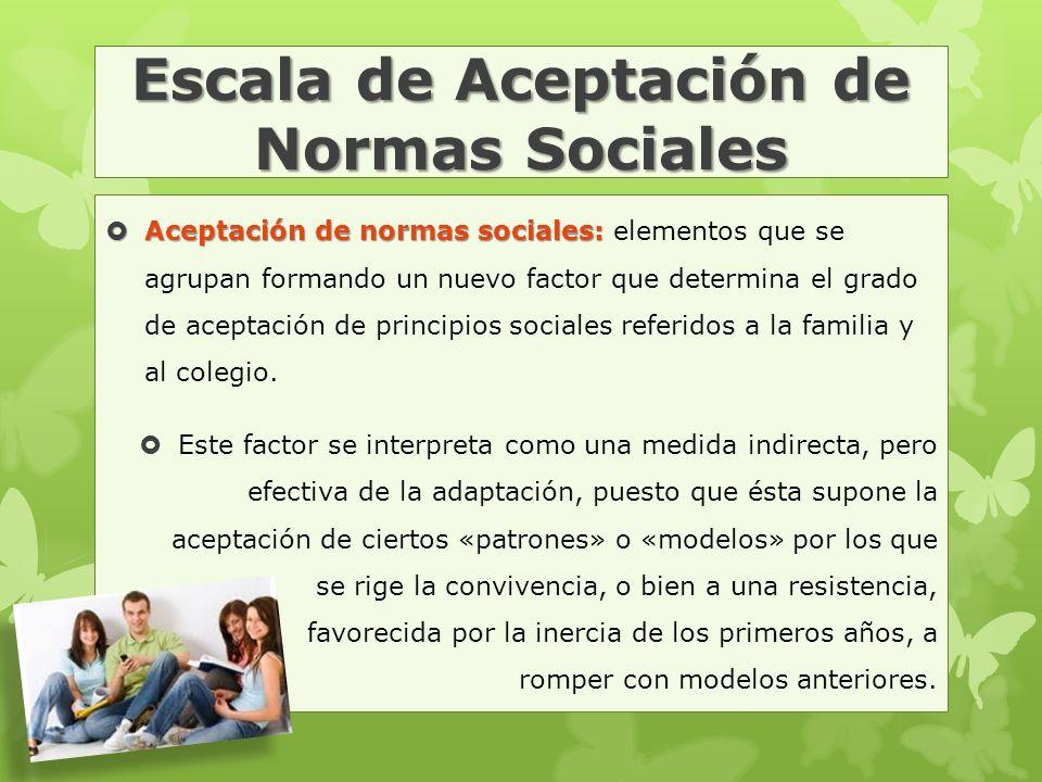 Escala de Aceptación de Normas Sociales