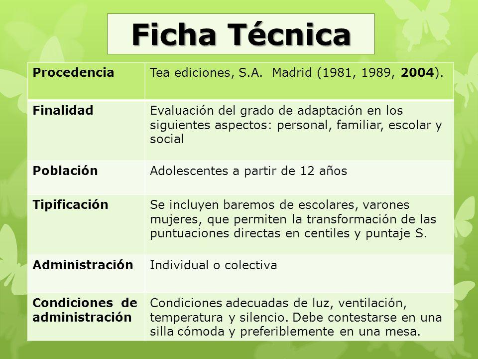 Ficha Técnica Procedencia