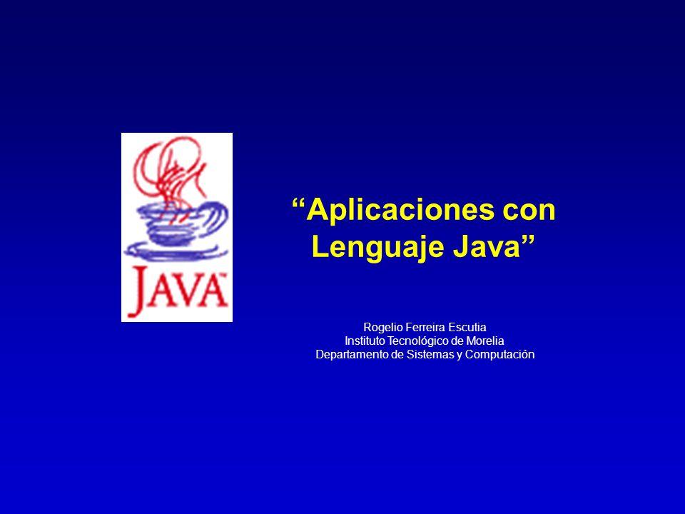 Aplicaciones con Lenguaje Java