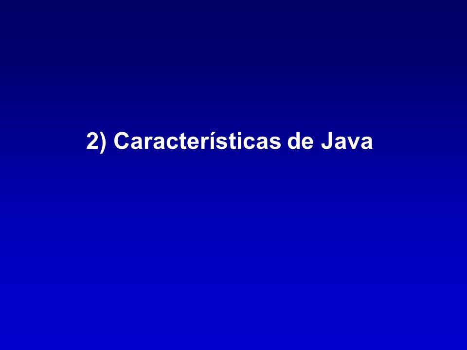 2) Características de Java