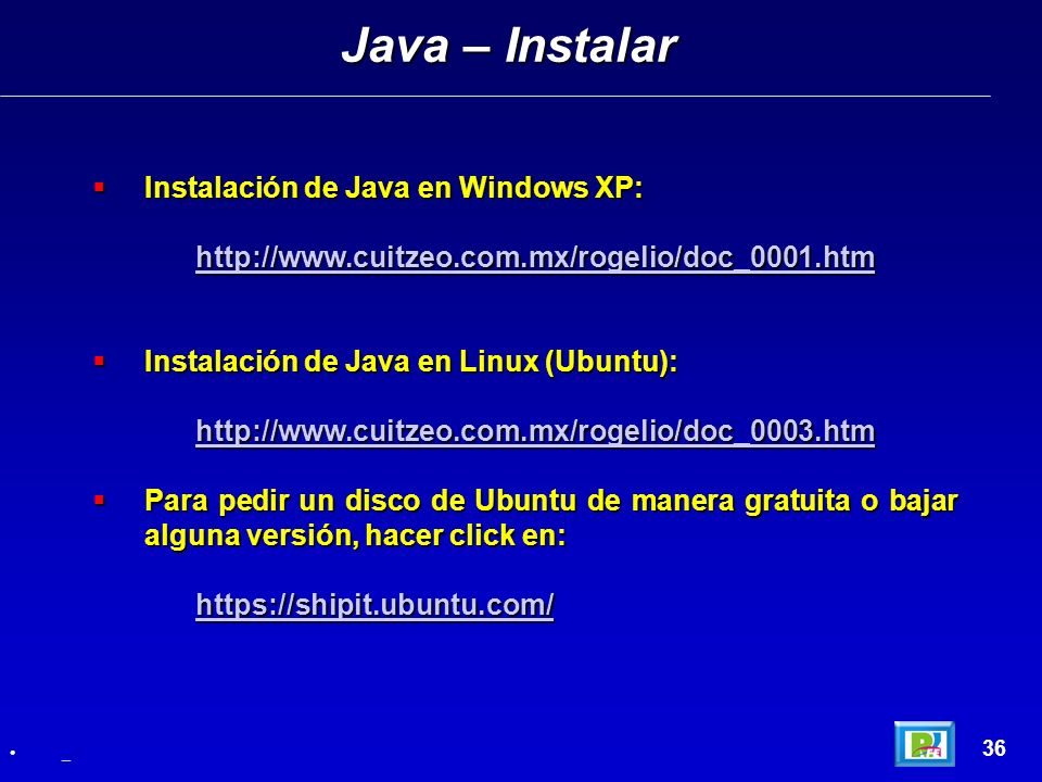 Java – Instalar Instalación de Java en Windows XP: