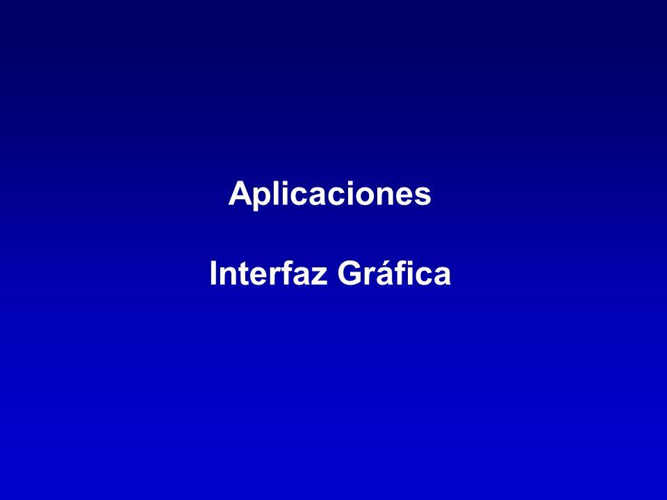 Aplicaciones Interfaz Gráfica