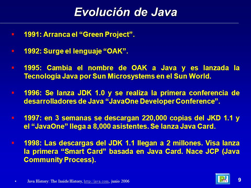 Evolución de Java 1991: Arranca el Green Project .