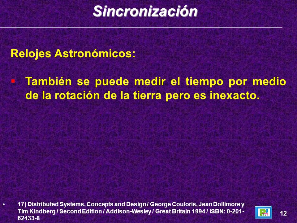 Sincronización Relojes Astronómicos: