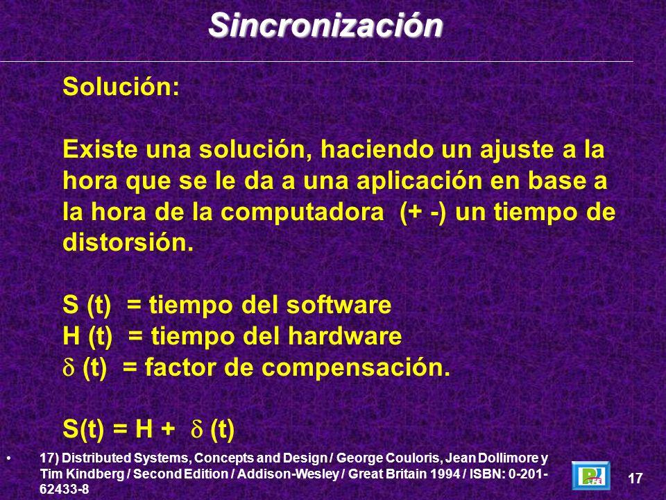 Sincronización Solución: