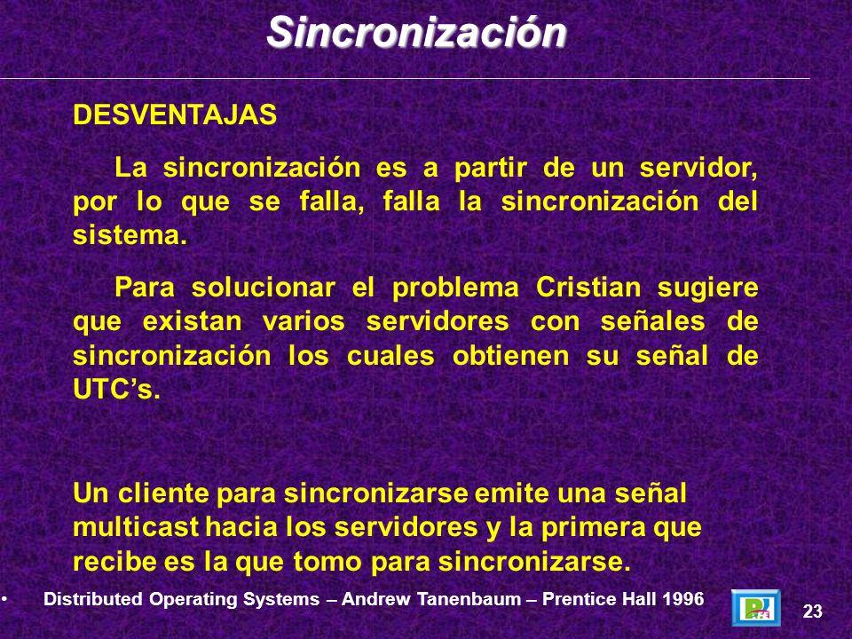 Sincronización DESVENTAJAS
