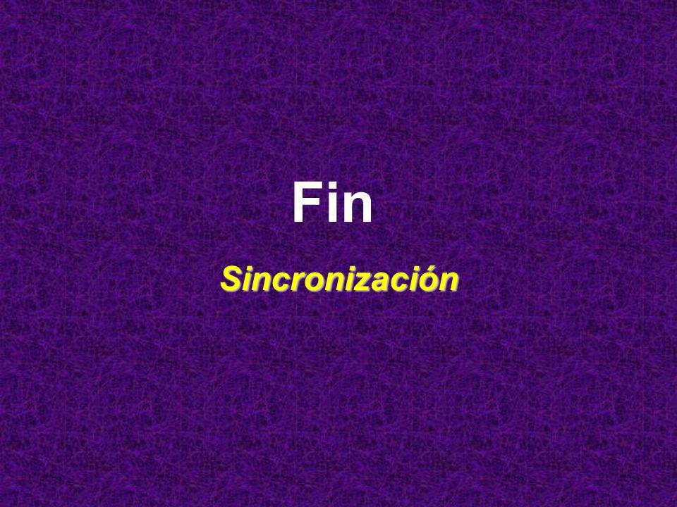 Fin Sincronización