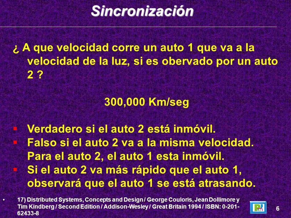 Sincronización ¿ A que velocidad corre un auto 1 que va a la velocidad de la luz, si es obervado por un auto 2