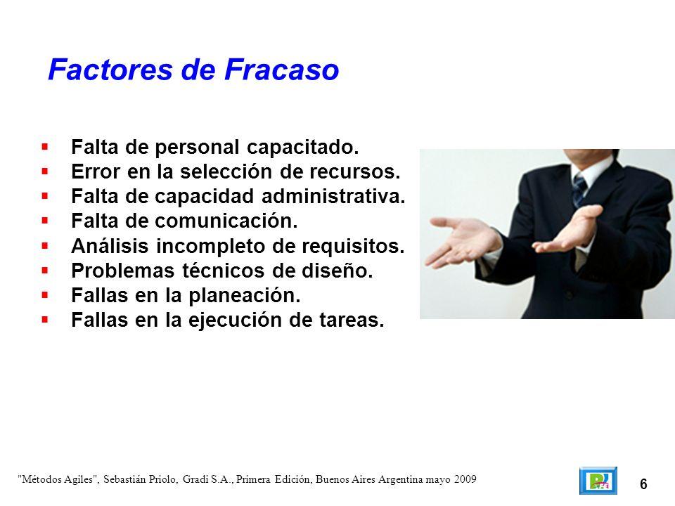 Factores de Fracaso Falta de personal capacitado.