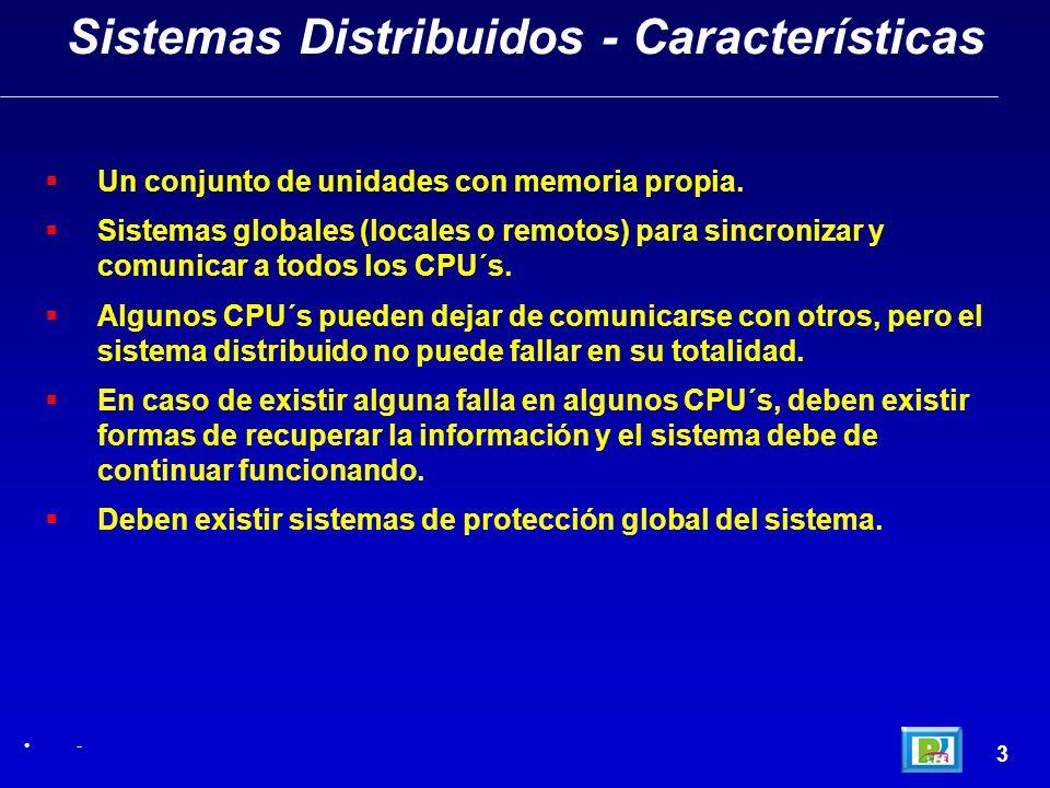 Sistemas Distribuidos - Características