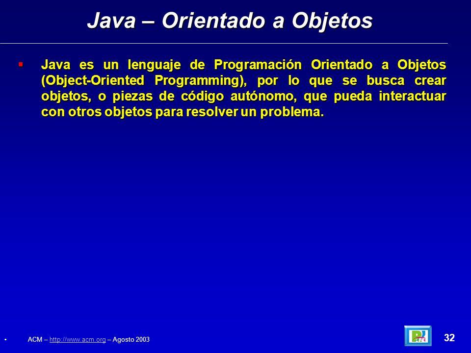 Java – Orientado a Objetos
