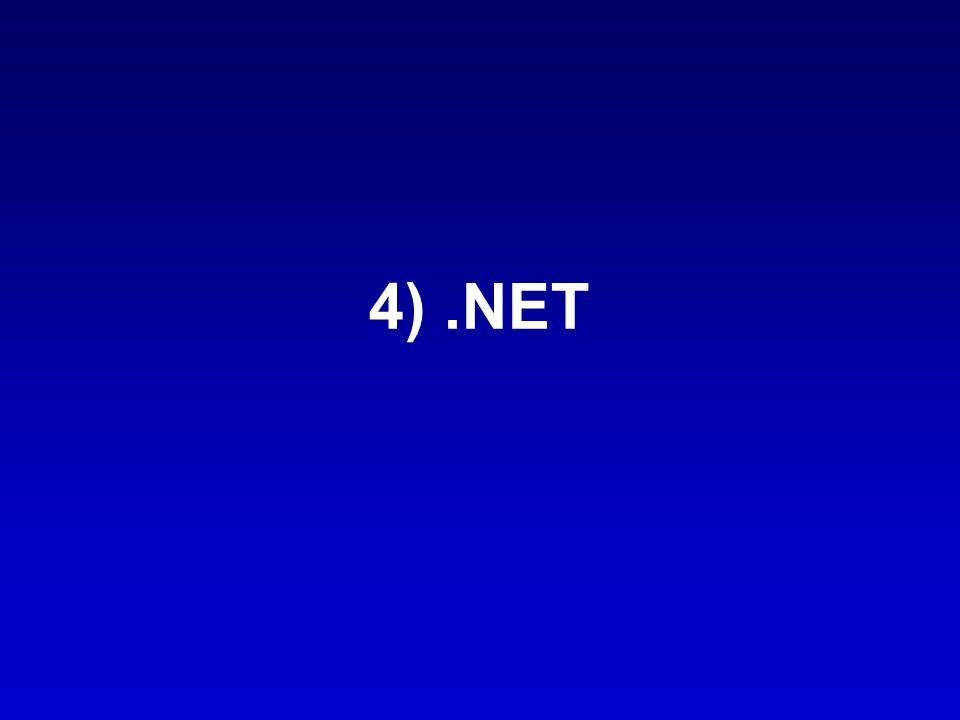 4) .NET