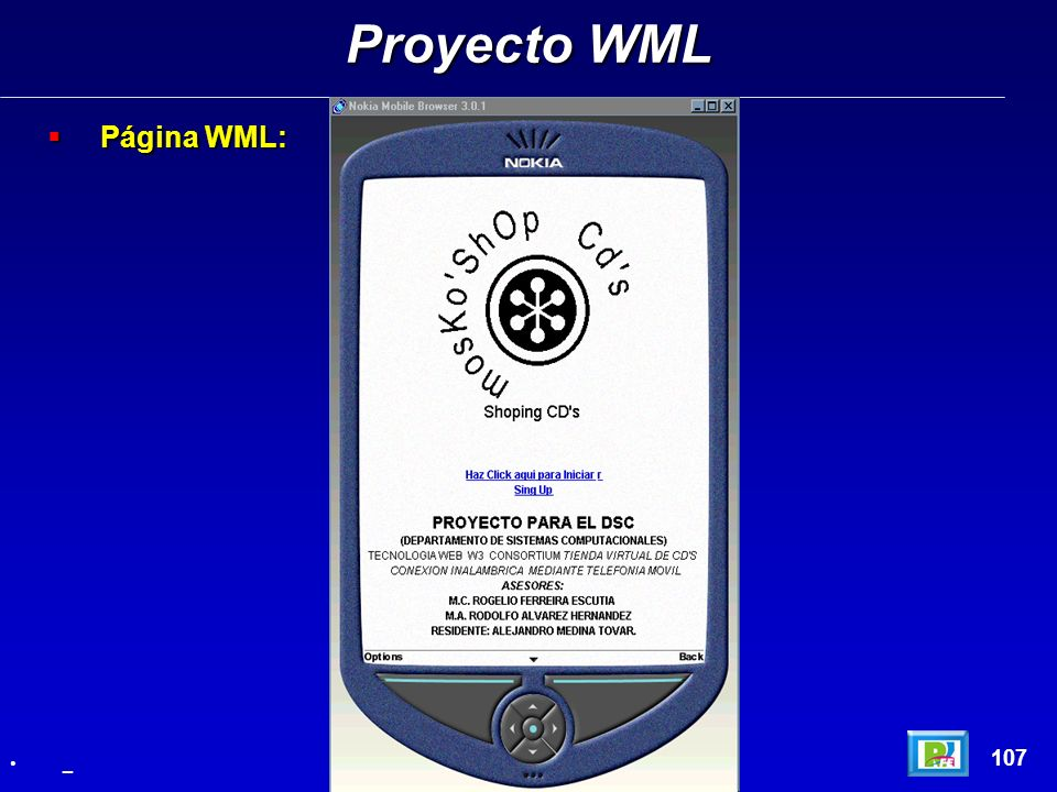 Proyecto WML Página WML: 107 _