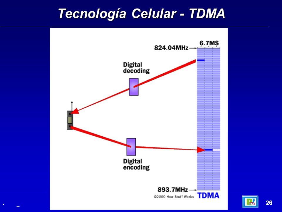 Tecnología Celular - TDMA