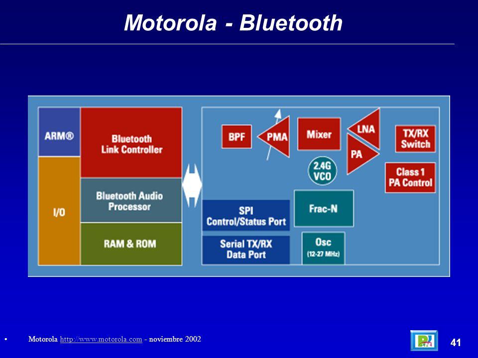 Motorola - Bluetooth Motorola http://www.motorola.com - noviembre 2002 41