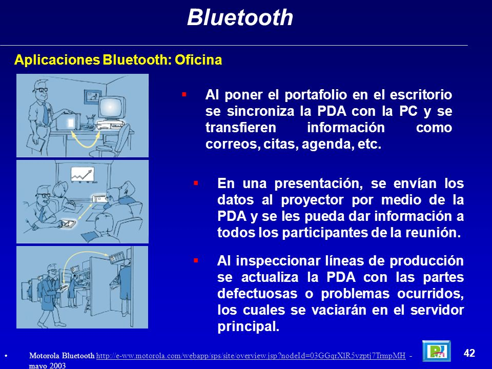Bluetooth Aplicaciones Bluetooth: Oficina
