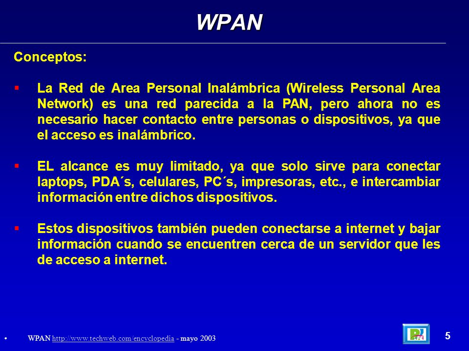 WPAN Conceptos: