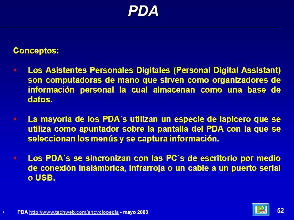 PDA Conceptos:
