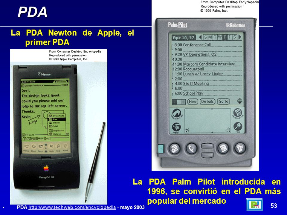 PDA La PDA Newton de Apple, el primer PDA