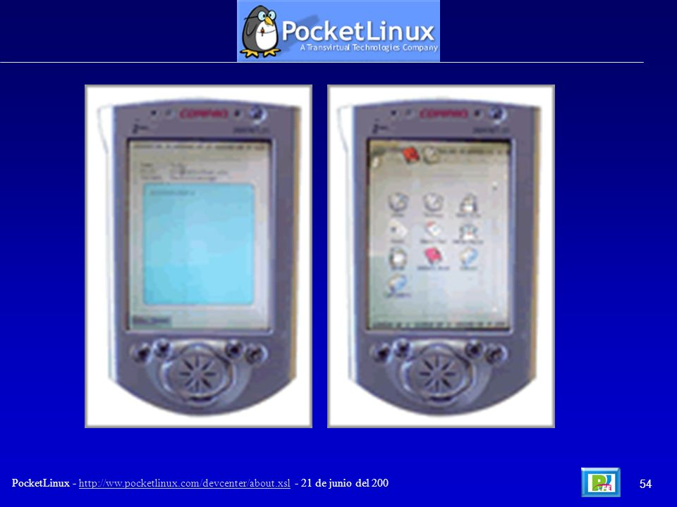 54 PocketLinux - http://ww.pocketlinux.com/devcenter/about.xsl - 21 de junio del 200