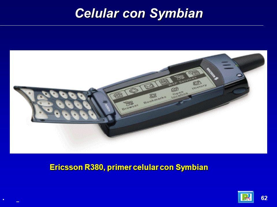 Celular con Symbian Ericsson R380, primer celular con Symbian 62 _