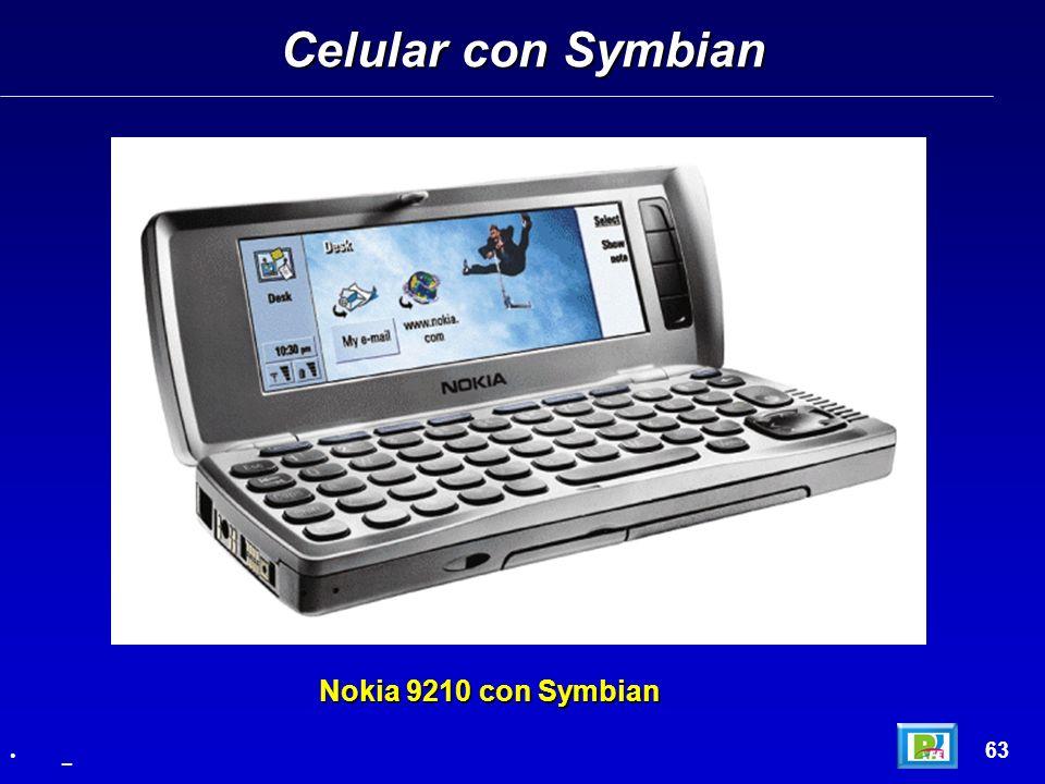 Celular con Symbian Nokia 9210 con Symbian 63 _