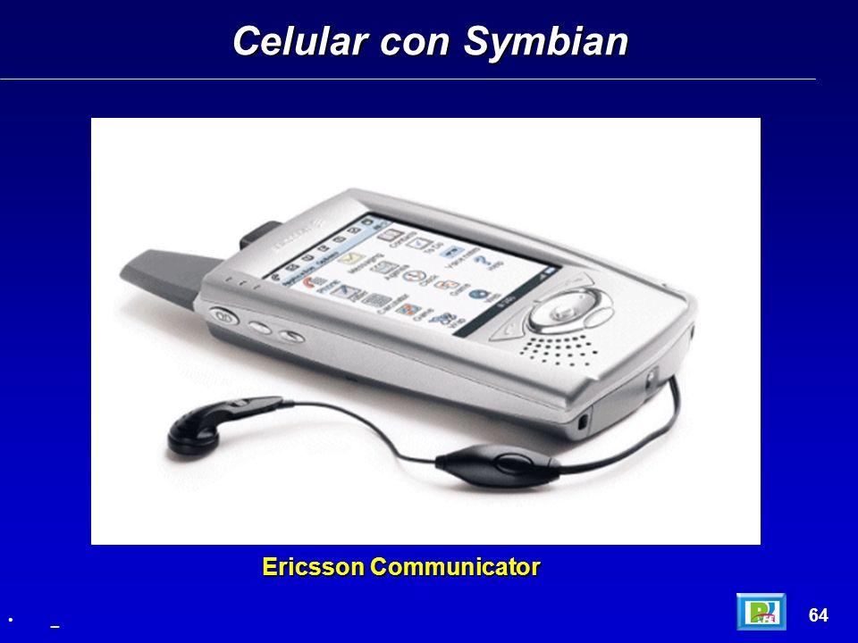 Celular con Symbian Ericsson Communicator 64 _