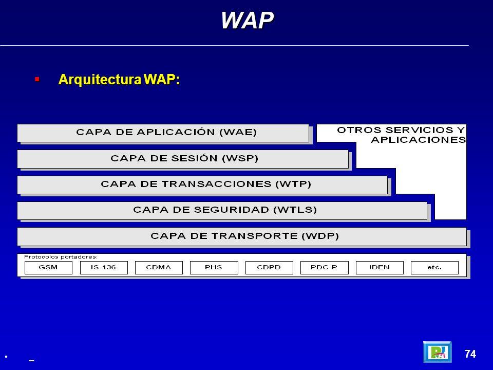 WAP Arquitectura WAP: 74 _
