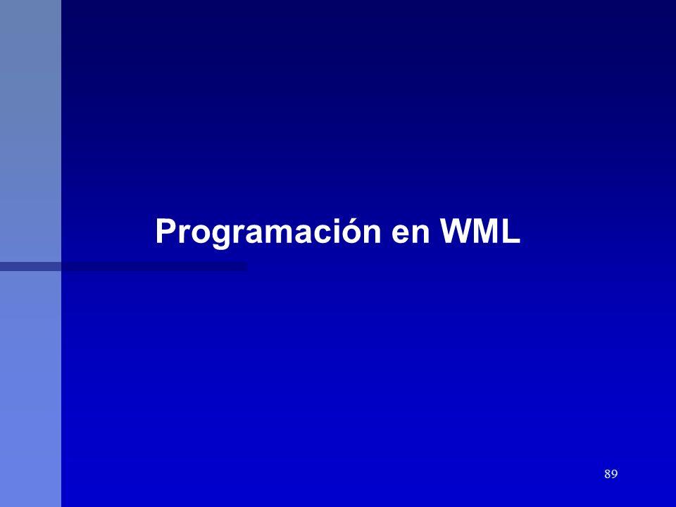 Programación en WML