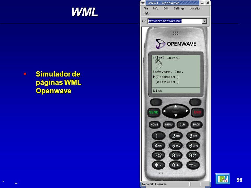 WML Simulador de páginas WML Openwave 96 _