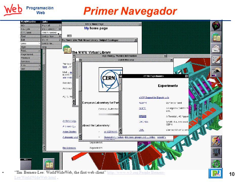 Primer Navegador 10 Programación Web