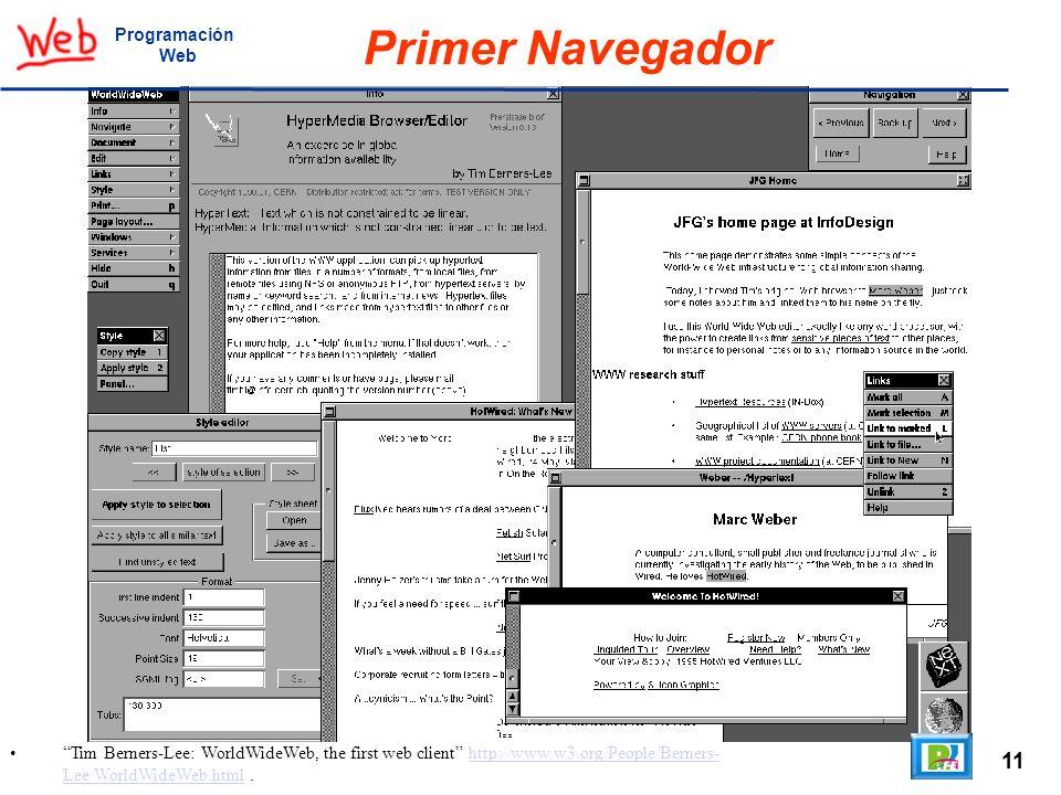 Primer Navegador 11 Programación Web